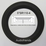 5 inch RUBBER Kurt Müller SR110/4 surround voor Vifa etc.