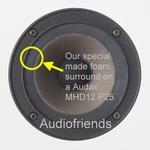 Fourier Model 1 speaker > VLAKKE FOAM rand voor midrange.