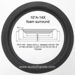 1 x Foamrand 10 inch Jamo PP 2504 pushpull - W-20360