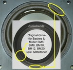 Backes & Müller BM20 > 1x GENUINE foam surround for repair