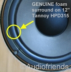 Tannoy Cheviot - 1x GENUINE foam surround for HPD315 repair
