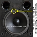 Acoustic Energy AE109, AE209 - 4x Foam surround for repair