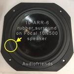 Focal 10N500 woofer - 1x RUBBER surround for repair speaker