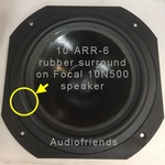 Focal Expression - 10N500 woofer - 1x RUBBER rand
