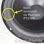 1 x Foam surround for repair Peerless PT210M woofer