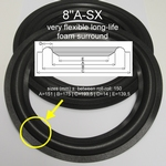 1 x Foam surround for Akai SR-H33, SR-H44, SR-H110, etc.