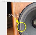 Dali 7, 7A - Peerless - 1x Foam surround for repair