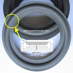 1 x Foam surround for repair Akai SR-930, SR-950