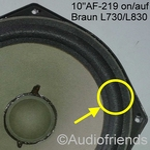 1 x Foamrand voor Braun L730, L830, Concert 90, SM1004