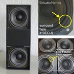 4 x Foamrand voor B&O Bang & Olufsen C75 speakers