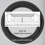 4 x 8 inch Foam surround for Audioton - Please see sizes: