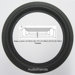 4 x RUBBER 8 inch rand voor Bose, Magnat, Philips, JBL etc.