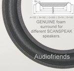 1 x Originele (genuine) foamrand Scanspeak 21W/8553 woofer