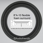 4 x Foam surrounds for repair Ohm MR228 - MR128