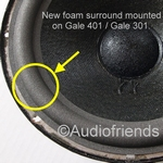 1 x Foam surround for repair woofer Gale 301