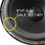Gale 301 - 1x Foamrand voor reparatie basluidspreker